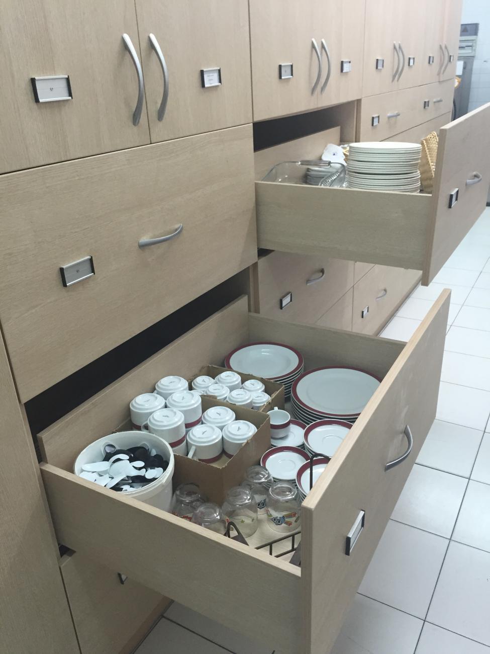 Detalle de cajones de mueble
